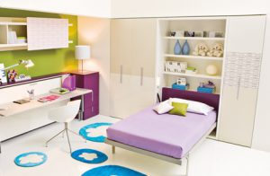 A Murphy Bed from Clei Compact Living Solutions  which doubles as a bookcase.