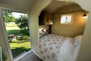 Round Hill Shepherd Hut incorporated this unique bed into their shepherd hut build.